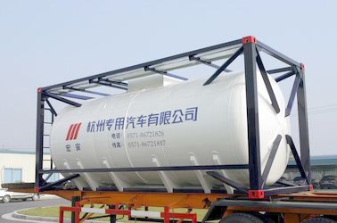 ประเทศจีน Stainless Steel 20ft Liquid Tank Container 26000L International Shipping Standard ผู้จัดจำหน่าย