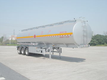 ประเทศจีน 46000L Aluminum Alloy 3 Axles Diesel Oil Tank Trailer , Light Gasoline Trailer ผู้จัดจำหน่าย